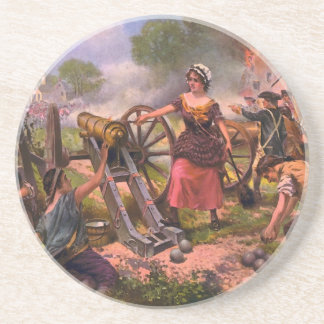 Molly Pitcher Firing Cannon at Battle of Monmouth Coaster