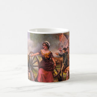 Molly Pitcher Firing Cannon at Battle of Monmouth Coffee Mug