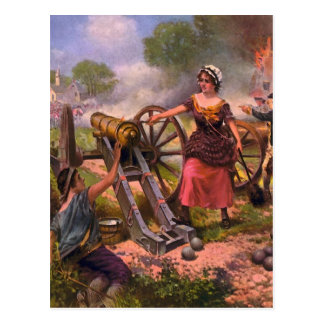 Molly Pitcher Firing Cannon at Battle of Monmouth Post Cards