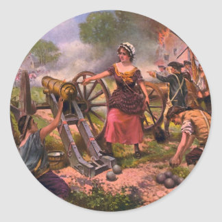 Molly Pitcher Firing Cannon at Battle of Monmouth Stickers