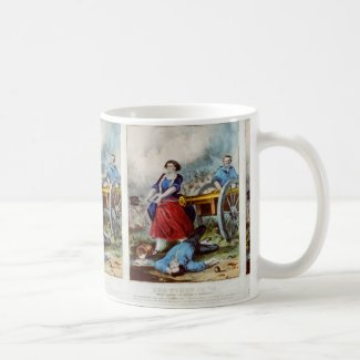 'Molly Pitcher' Revolutionary War Mug