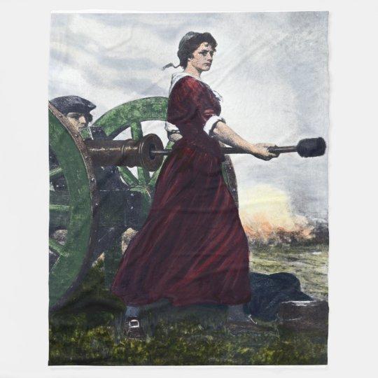 molly pitcher revolutionary war patriot fleece blanket zazzle com