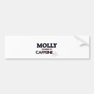 Molly powered by caffeine car bumper sticker