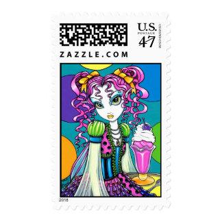 """Molly"" Rainbow Ice Cream Fairy Postage Stamps"