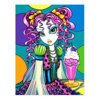 """""""Molly"""" Rainbow Ice Cream Fairy Postcard"""