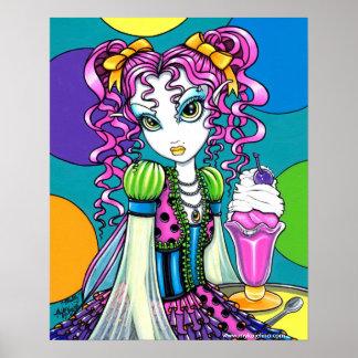 """Molly"" Rainbow Ice Cream Fairy Posters"
