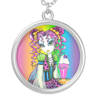 """Molly"" Rainbow Sherbet Ice cream Fairy Necklace"