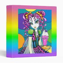 molly, cute, ice, cream, sherbert, rainbow, soda, shop, couture, fairy, faery, fae, faerie, fairies, art, fantasy, myka, jelina, mika, faeries, Fichário com design gráfico personalizado