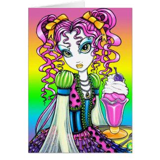 """""""Molly"""" Sherbet Ice Cream Rainbow Fairy Card"""