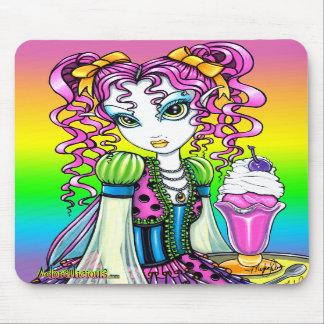 """Molly"" Sherbet Ice Cream Rainbow Fairy Mousepad"