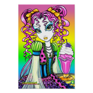 """Molly"" Sherbet Ice Cream Rainbow Fairy Poster"