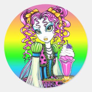 """Molly"" Sherbet Ice Cream Rainbow Fairy Stickers"