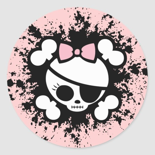 Molly Splat Classic Round Sticker