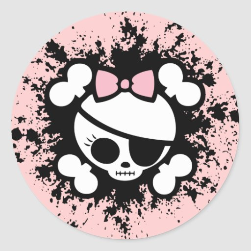 Molly Splat Round Stickers