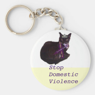 molly, Stop Domestic Violence Keychain