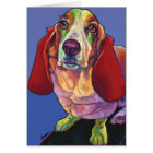 Molly the Basset Therapy Dog Card by Ron Burns