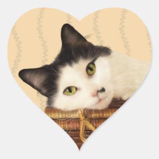 Molly the cat heart sticker