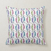 Molly the Gecko Throw Pillow