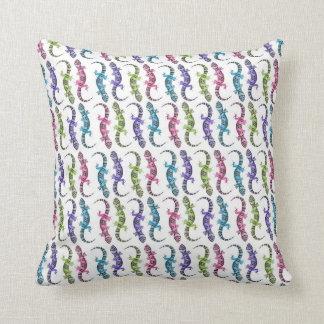 Molly the Gecko Throw Pillow