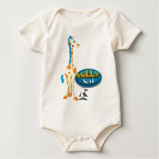 Molly the Giraffe & Kai the Penguin baby Baby Bodysuit