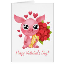 Molly the Micro Pig Valentine's Day Card