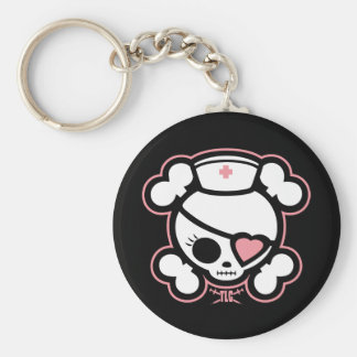 Molly TLC Basic Round Button Keychain