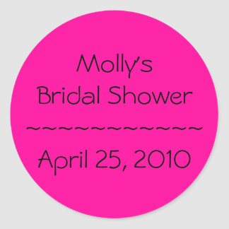 Molly's Bridal Shower~~~~~~~~~~~April 25, 2010 Classic Round Sticker