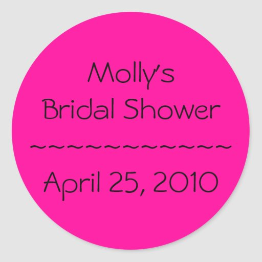 Molly's Bridal Shower~~~~~~~~~~~April 25, 2010 Sticker