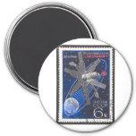 Molniya Communications Satellite Refrigerator Magnets