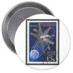 Molniya Communications Satellite Pinback Buttons