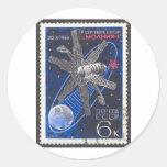 Molniya Communications Satellite Classic Round Sticker