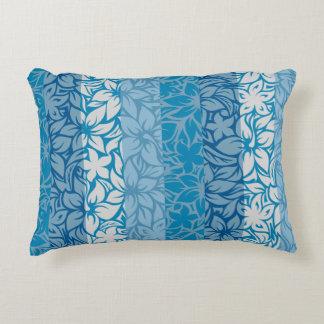 Moloaa Bay Hawaiian Hibiscus Striped Reversible Decorative Pillow
