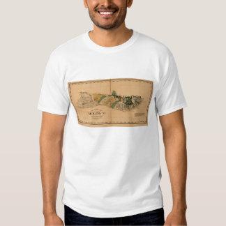 Molokai, 1897, Vintage Hawaii Map T Shirt