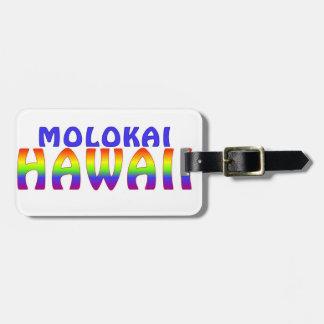 Molokai Hawaii rainbow writing Bag Tag