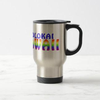 Molokai Hawaii rainbow writing Coffee Mugs