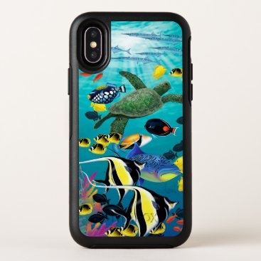 Hawaiian Themed Molokini Cove Hawaiian Tropical Fish Illustration OtterBox Symmetry iPhone X Case