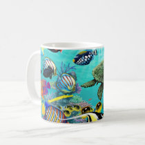 Molokini Cove Hawaiian Tropical Fish Sea Turtle Coffee Mug