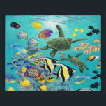 "Molokini Cove Hawaiian Tropical Fish Sea Turtle Faux Canvas Print<br><div class=""desc"">Molokini Cove is a partially submerged Pacific Ocean volcanic crater near the Hawaiian island of Maui. Blessed with exceptional undersea visibility and more than 250 species of native Hawaiian tropical fish and a kaleidoscope of coral, Molokini is a highly popular snorkeling and scuba diving destination. Renowned illustrator Jeff Fillbach captured...</div>"