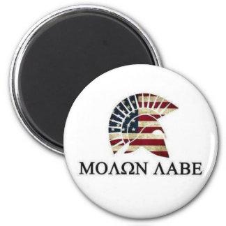 MOLON LABE 2 INCH ROUND MAGNET