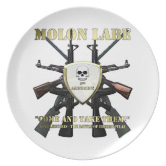 Molon Labe - 2da enmienda Platos De Comidas