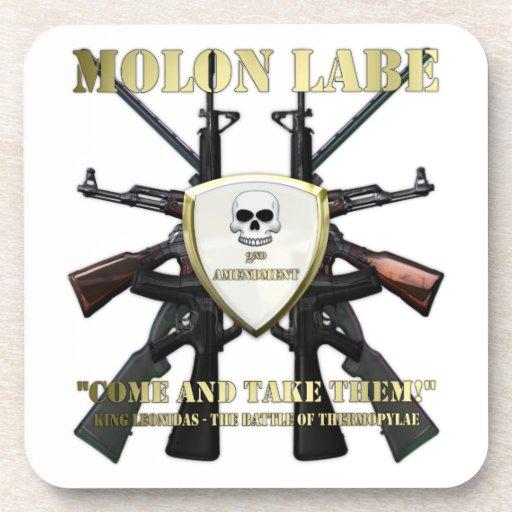 Molon Labe - 2da enmienda Posavasos De Bebida