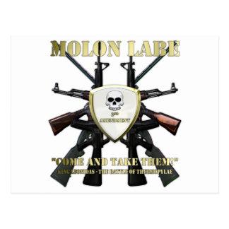Molon Labe - 2da enmienda Tarjetas Postales
