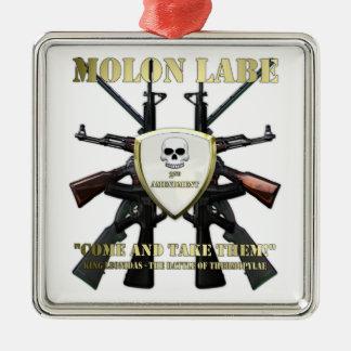 Molon Labe - 2nd Amendment Metal Ornament