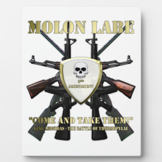 Molon Labe - 2nd Amendment Plaque