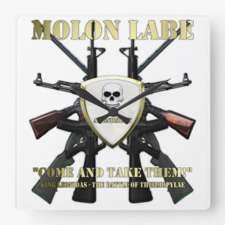 Molon Labe - 2nd Amendment Square Wall Clock