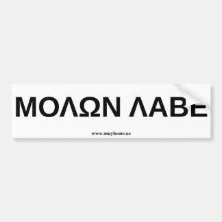 Molon Labe 3 Bumper Sticker
