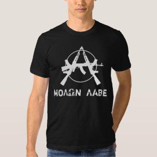 Molon Labe Anarchy Guns Tshirt
