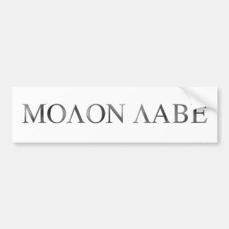Molon Labe Bumper Sticker