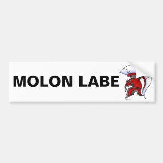 Molon Labe Bumper Sticker Car Bumper Sticker