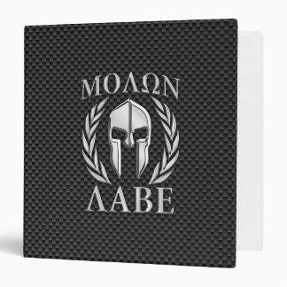 Molon Labe Chrome Style Spartan Armor Carbon Fiber Binder